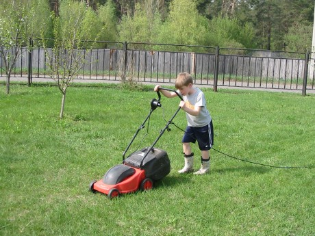 Trying to mow in a straight line