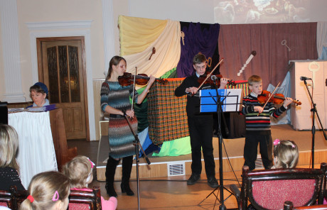 Playing at our church's children's Christmas program