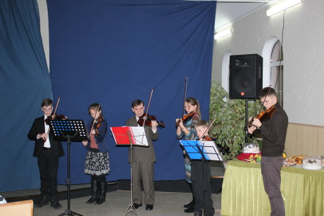 Playing at another children's Christmas program