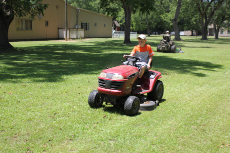 Mowing the church property