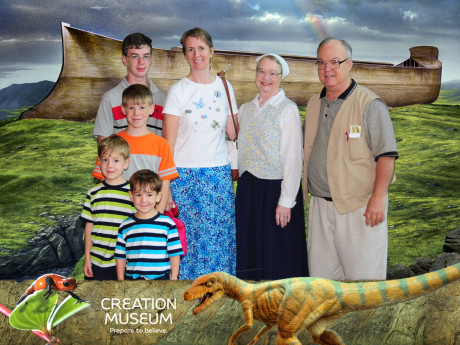 With our friends at the Creation Museum