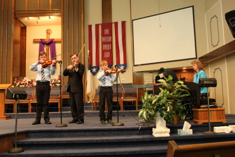 Playing at Hope Baptist in Indianapolis