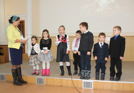 Matviy and Andriy reciting poems