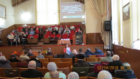 Preaching at the church in Khmelnitsky