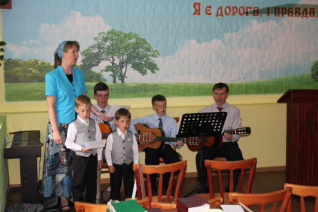 "Singing ""Blessed be the Name"" in Ivankiv"