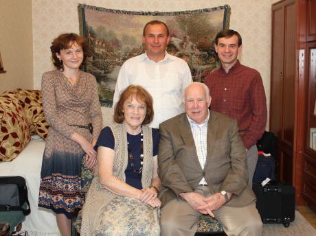 Ukrainian Bible translation team with the Dooms