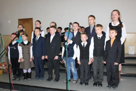 Yurko singing in the children's choir