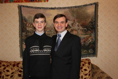 No, it's not an illusion: Sashko IS taller than me now!