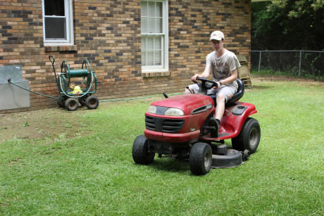 Mowing the pastor's lawn
